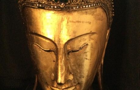 Boeddha hoofd goud