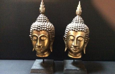 Boeddha hoofden goud