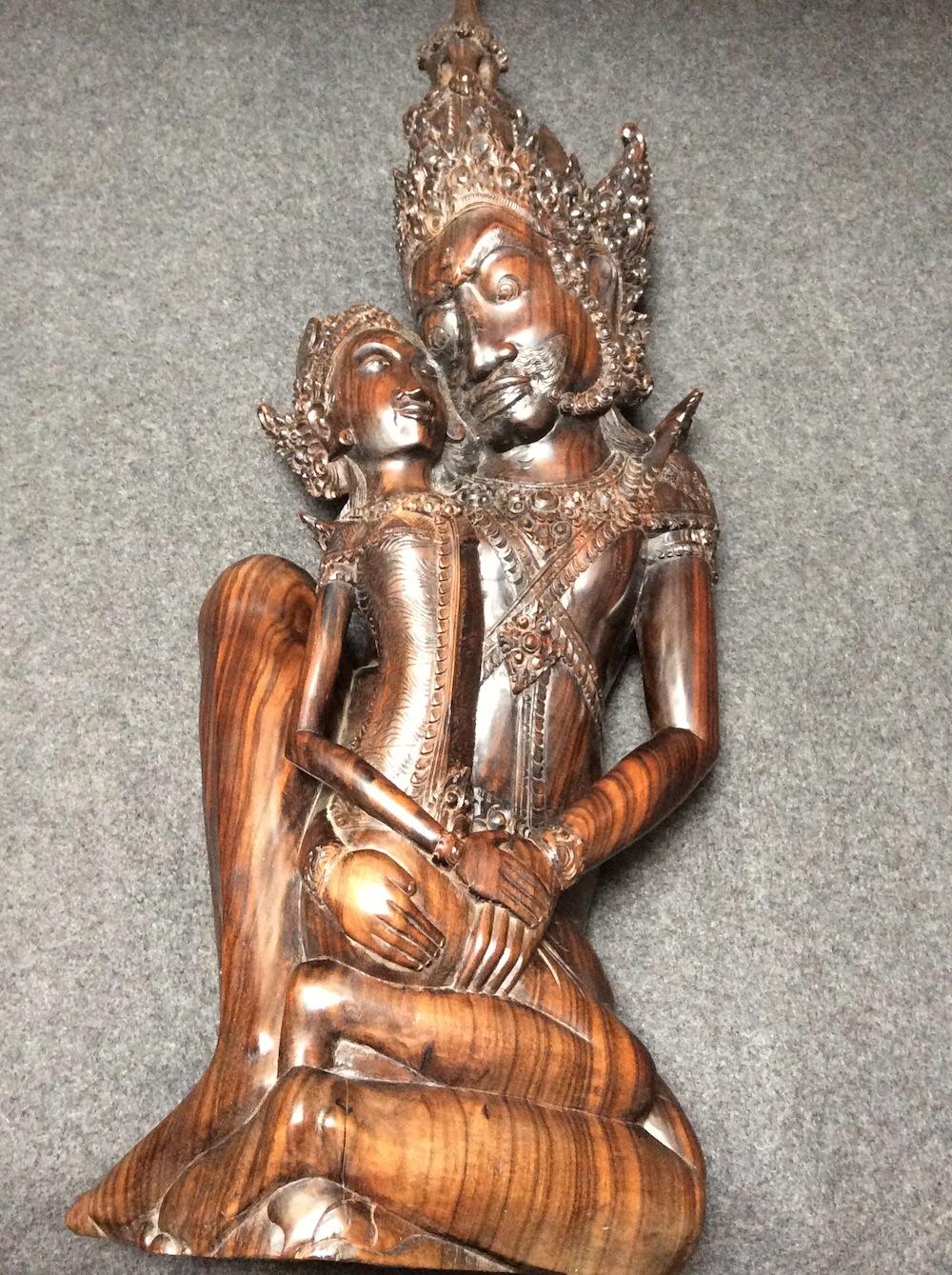 Boeddha samen hout